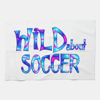 Wild About Soccer Kitchen Towel