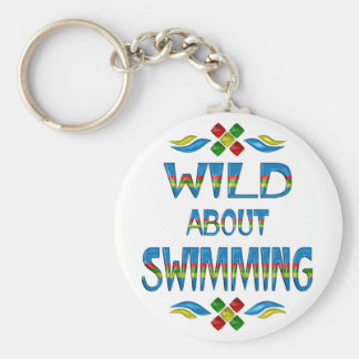 Wild About Swimming Keychain