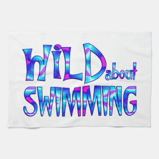 Wild About Swimming Kitchen Towel