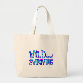Wild About Swimming Large Tote Bag