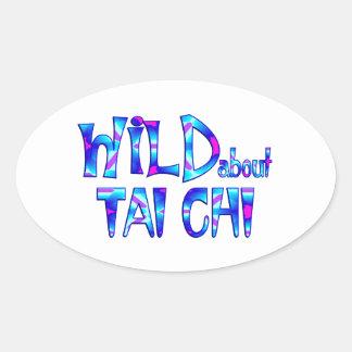 Wild About Tai Chi Oval Sticker