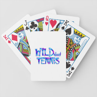 Wild About Tennis Bicycle Playing Cards