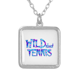 Wild About Tennis Silver Plated Necklace
