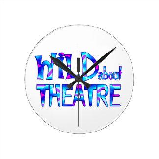 Wild About Theatre Round Clock