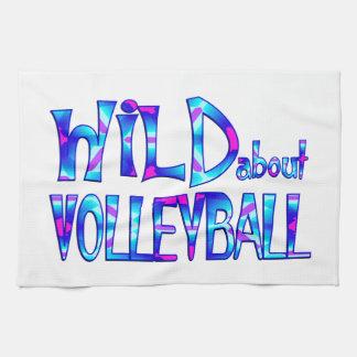 Wild About Volleyball Kitchen Towel