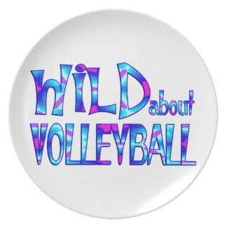 Wild About Volleyball Plate