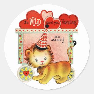 Wild About You | Valentine | Round Stickers