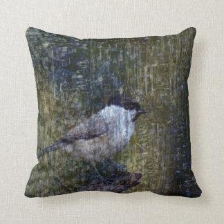 Wild  Abstract Chickadee Throw Pillow