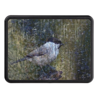 Wild  Abstract Chickadee Trailer Hitch Cover