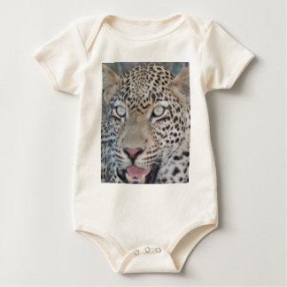 Wild African Leopard Eyes Baby Bodysuit