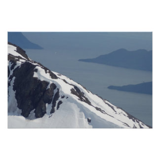 Wild Alaska Helicopter View Posters