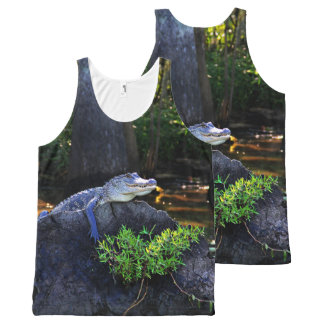 Wild Alligator Photography Print All-Over-Print Tank Top
