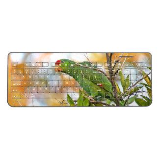 Wild Amazon Parrot Bird Animal Wireless Keyboard