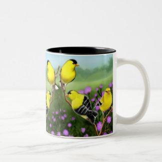 Wild American Goldfinches Mug