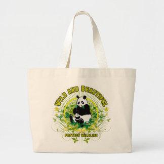 Wild and beautiful Panda Large Tote Bag