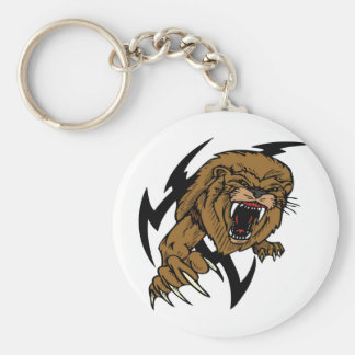 Wild and Brown Lion roaring Keychain