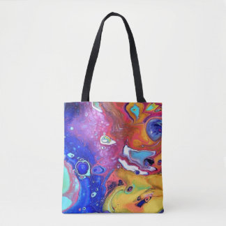 Wild and Crazy Acrylic Pour All Over Tote