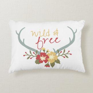 Wild and Free Boho Throw Pillow