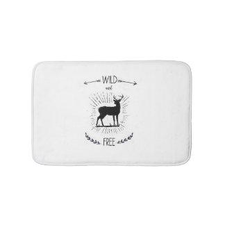 Wild and free, Deer print, Deer Bath Mat