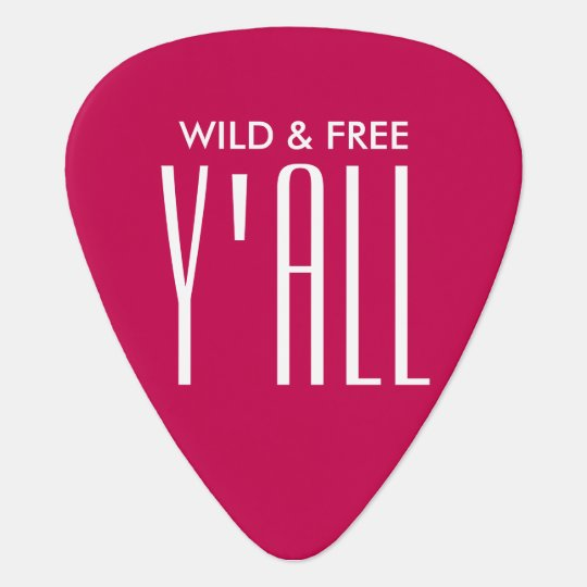 Wild and Free Guitar Pick