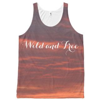 Wild and Free Sunrise Photo Unisex Vest
