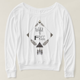 Wild and Free, tribal design, off the shoulder top