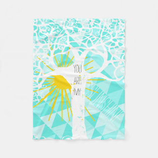 Wild and Free You Are My Sunshine Fleece Blanket