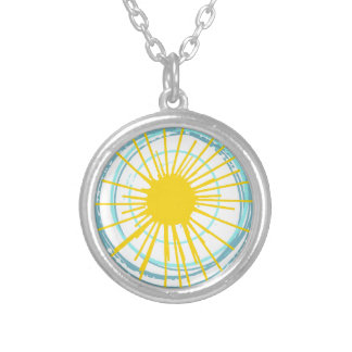 Wild and Free You Are My Sunshine Silver Plated Necklace