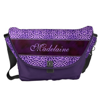 Wild and Purple Cheetah Print for Her Courier Bag