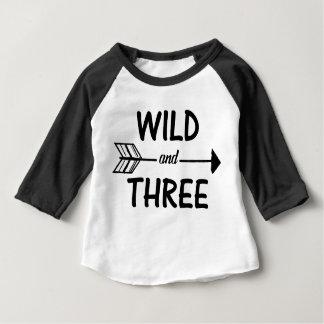 Wild and three arrow 3rd birthday shirt