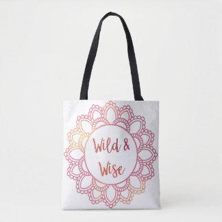 """""""Wild and Wise"""" Mandala Tote Bag"""