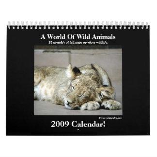 Wild Animal 2009 Calendar! Wall Calendars