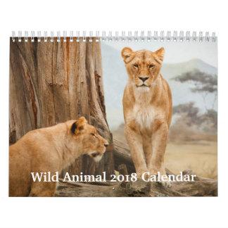 Wild Animal 2018 Calendar