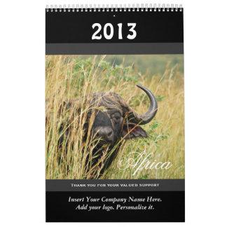 Wild animal Africa 2013 PERSONALIZE Calendars