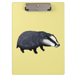 wild animal baby badger clipboard