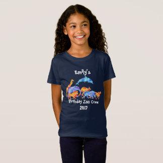 Wild Animal Birthday Zoo Crew T-Shirt