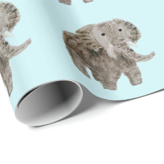 Wild Animal Elephant Art Wrapping Paper