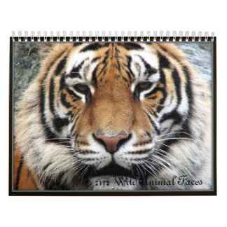 Wild Animal Faces Calendar