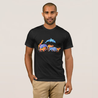Wild Animal Herd Colorful Watercolor T-Shirt