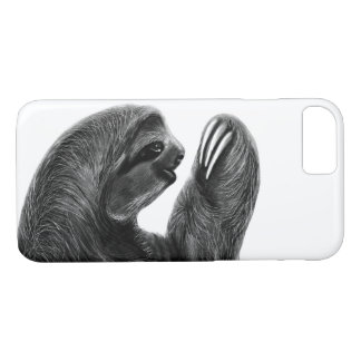 Wild Animal Rainforest South American Sloth Sketch Case-Mate iPhone Case