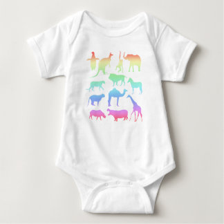 Wild Animals Baby Bodysuit