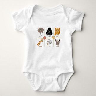 Wild Animals Baby Bodysuit