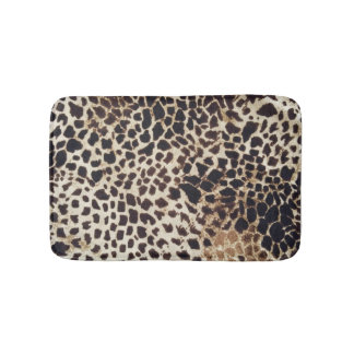 Wild animals bathroom mat