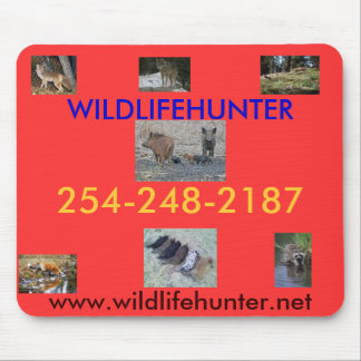 Wild animals being hunted mouse pad