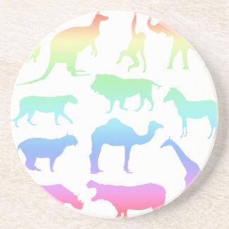 Wild Animals Beverage Coasters
