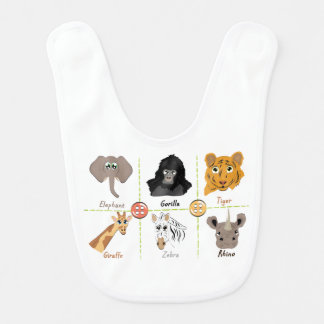 Wild Animals Bib