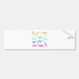 Wild Animals Bumper Sticker