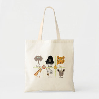Wild Animals Design Tote Bag