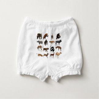 Wild animals diaper cover