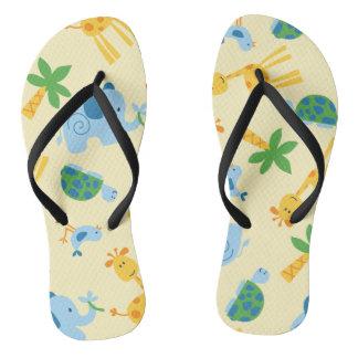 Wild animals flip flops